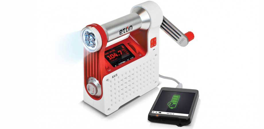 hand crank battery radio